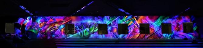 fresque deco fluo light painting