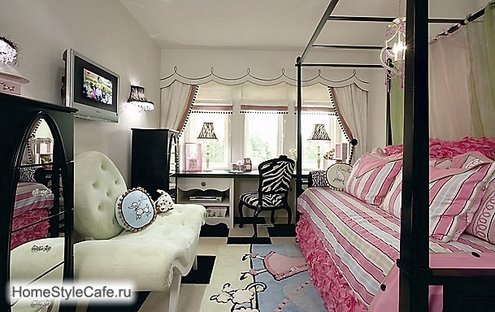 black and pink dream interior design ideas for small teenage girls room