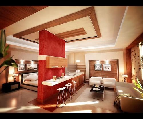Apartment Decorating Ideas Red