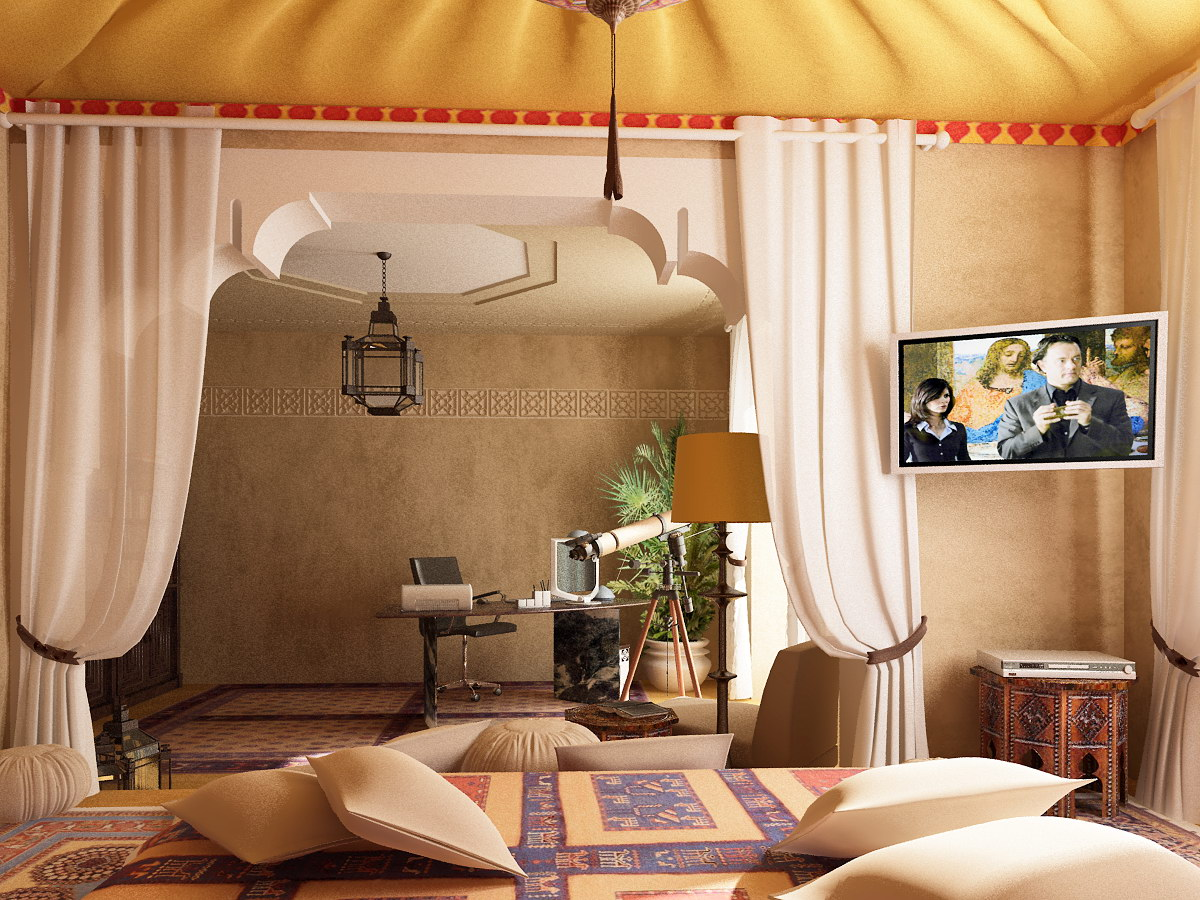 40 Moroccan Themed Bedroom Decorating Ideas ... on Room Decor Ideas id=77452