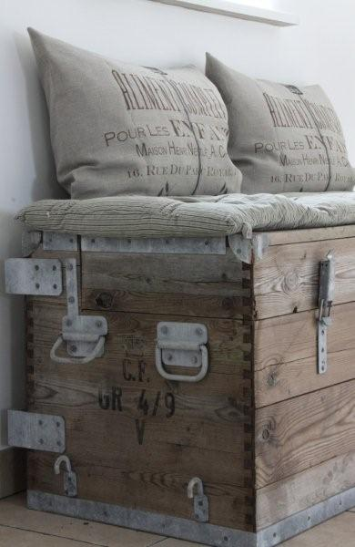 Fairytale Home Decor Furniture Chest Rustic Wood Pillows