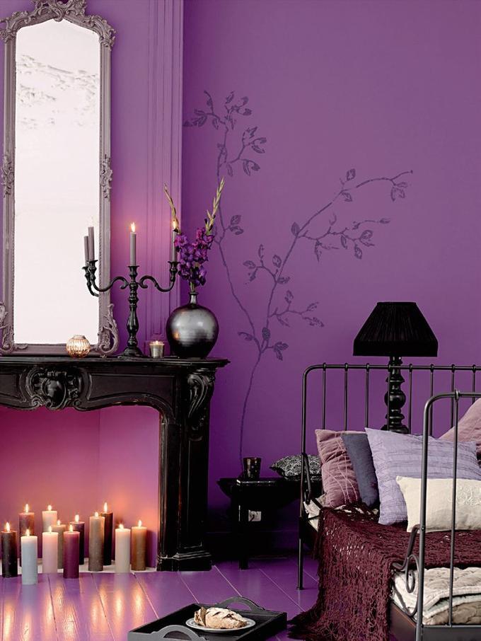 Bed, decoration, furniture, bedroom, purple, pink, canopy bed, room. 24 Purple Bedroom Ideas - Decoholic