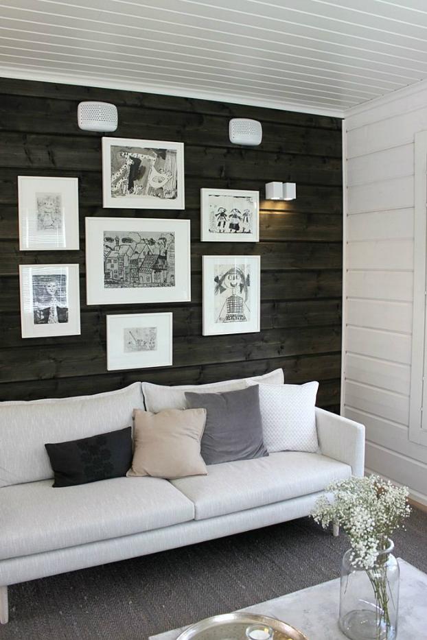 Living Room With Dark Dramatic Walls 30 Ideas Decoholic