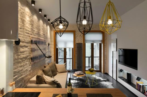 Contemporáneo de 40 metros cuadrados 430 pies cuadrados Apartamento 15