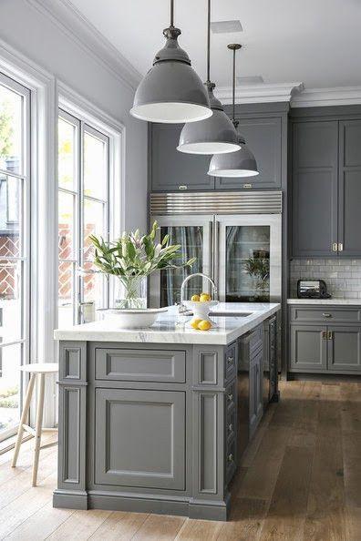 66 Gray Kitchen Design Ideas - Decoholic on Kitchen Ideas  id=93153