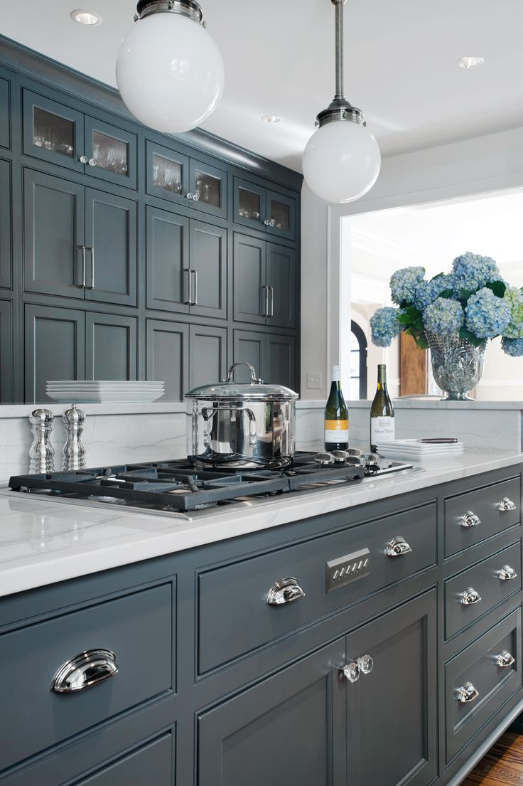 66 Gray Kitchen Design Ideas - Decoholic on Kitchen Counter Decor  id=33939