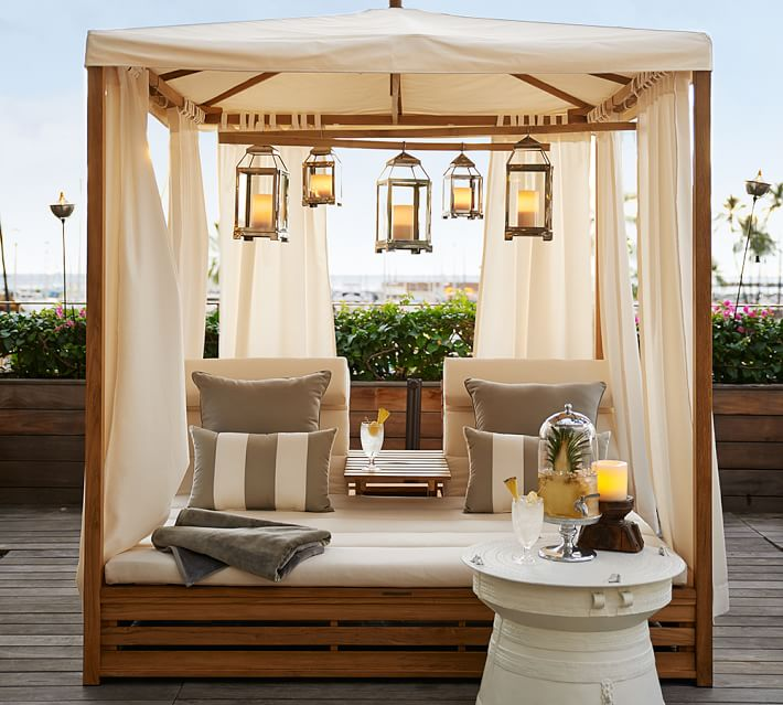 Beautiful Outdoor Teak Daybed - Decoholic on Living Spaces Outdoor Daybed id=59688
