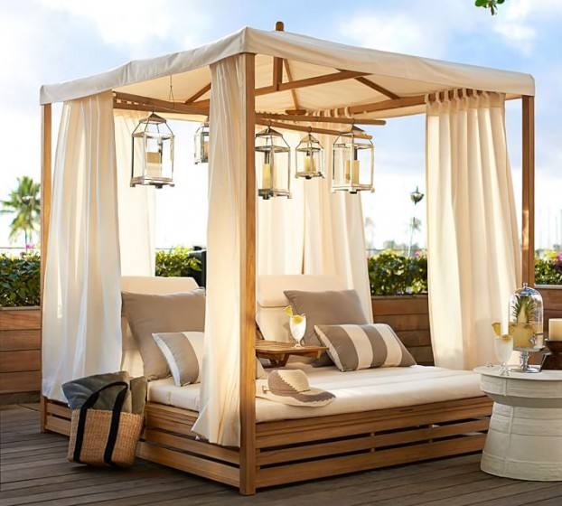 Beautiful Outdoor Teak Daybed   Decoholic on Belham Living Lilianna Outdoor Daybed id=30890