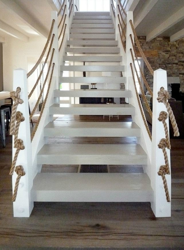 47 Stair Railing Ideas Interior Stair Rails Decoholic   Grey And White Banister   Green White   Staircase   Gray Stained   Fixed Wall Painted   Light Grey Grey