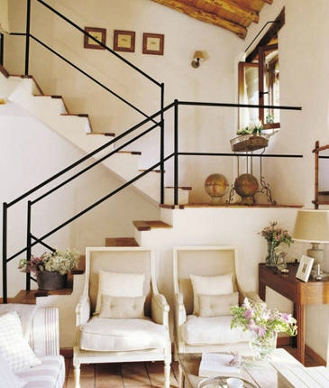 47 Stair Railing Ideas Interior Stair Rails Decoholic   Partition Of Stairs In Living Room   Lobby   Storage   Open Plan   Divider   Wood Paneling