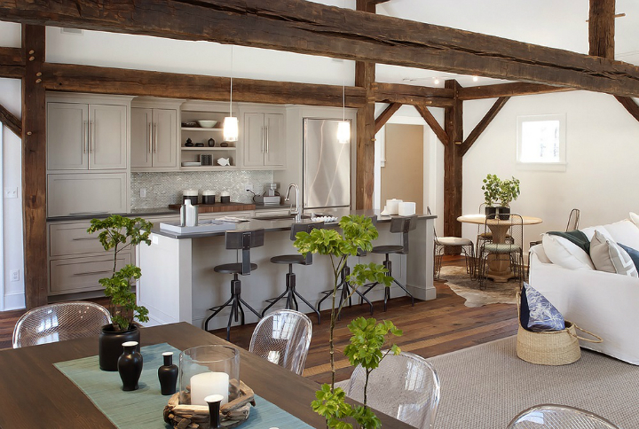 Rustic Meets Modern In This Beautiful Kitchen - Decoholic on Beautiful Kitchen  id=90756