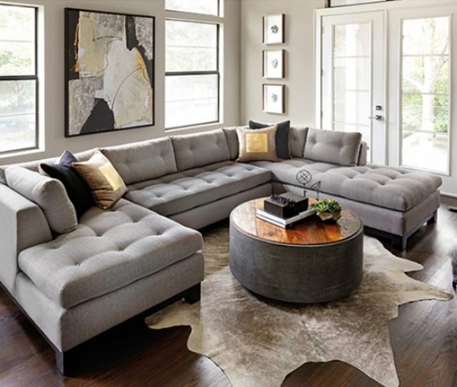 High Fashion Home Contemporary Gray Living Room