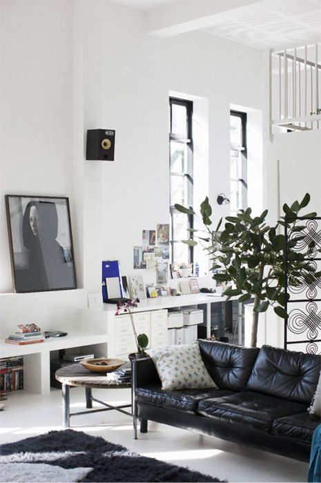 Looking for small living room ideas? How To Decorate A Living Room With A Black Leather Sofa ...