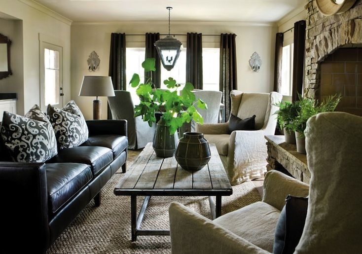 For years, the living room staple g. How To Decorate A Living Room With A Black Leather Sofa ...