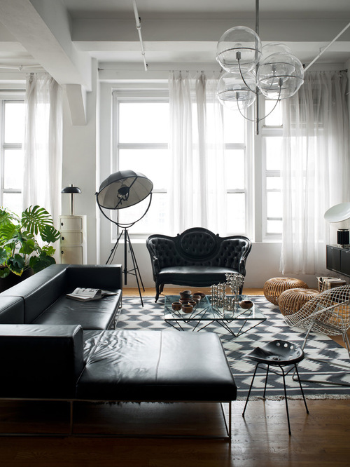 Here are five tips for choosing lighting for your living room. How To Decorate A Living Room With A Black Leather Sofa ...