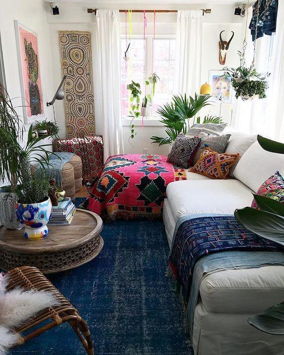 26 Bohemian Living Room Ideas - Decoholic on Room Decor Photos  id=56691