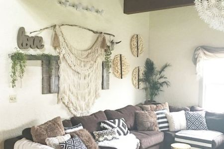 26 Bohemian Living Room Ideas   Decoholic bohemian living room decorating idea 17