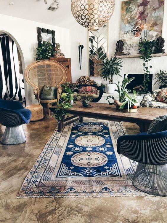 26 Bohemian Living Room Ideas - Decoholic on Boho Room Decor  id=56476