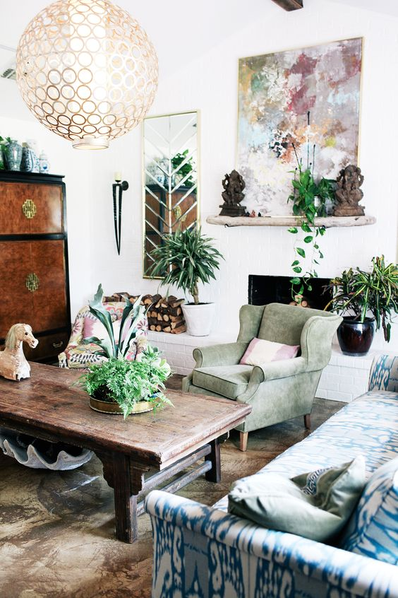 26 Bohemian Living Room Ideas - Decoholic on Bohemian Living Room Decor Ideas  id=40538