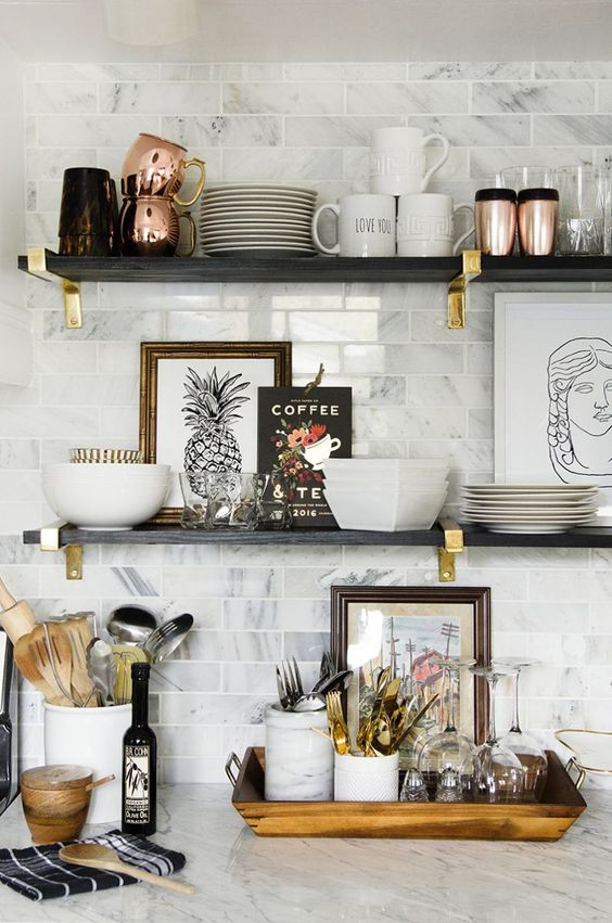 10 Ways to Style Your Kitchen Counter Like a Pro - Decoholic on Kitchen Counter Decor  id=73532