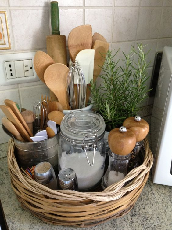 10 Ways to Style Your Kitchen Counter Like a Pro - Decoholic on Kitchen Counter Decor  id=14314