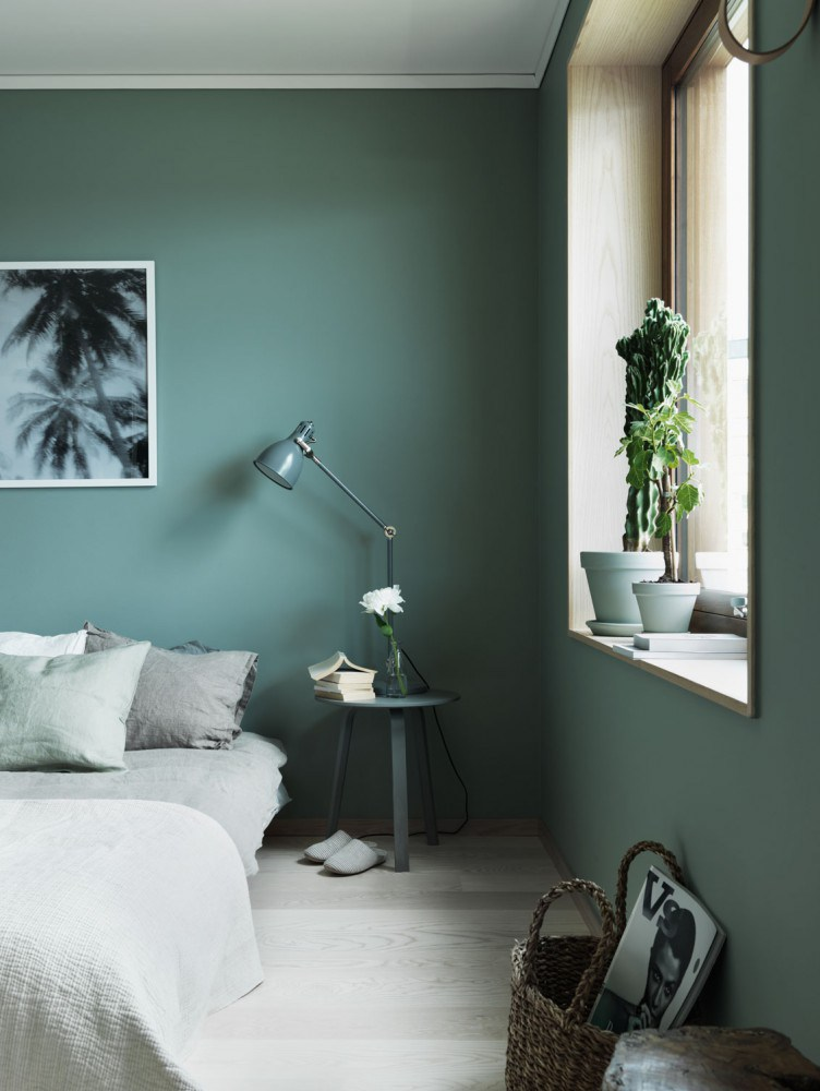 green bedroom design idea 13