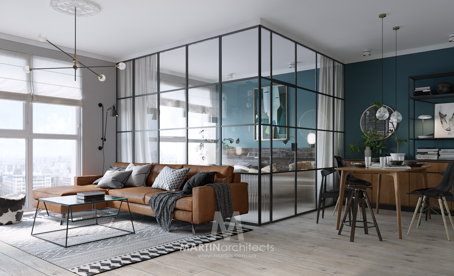 compact small apartment with a classy glass bedroom - decoholic