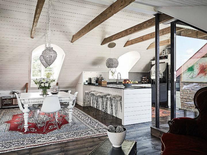 White Kitchen Open Concept