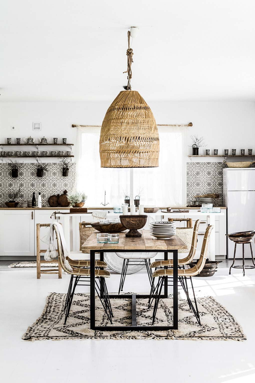 21 Bohemian Kitchen Design Ideas - Decoholic on Boho Modern Decor  id=91880