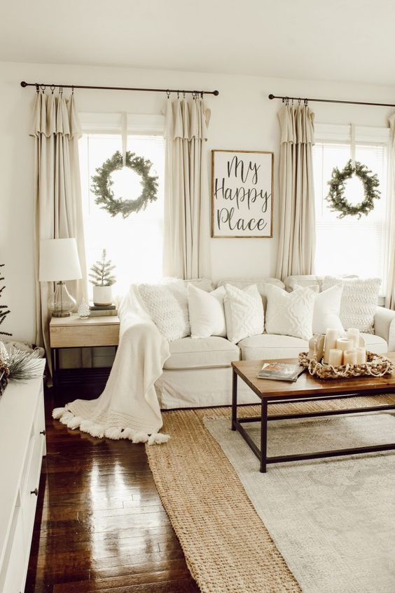 10 Easy Ways to Bring Modern Farmhouse Style To Your Home ... on Farmhouse Living Room Curtain Ideas  id=93037