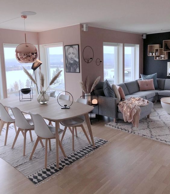 How To Decorate A Grey And Blush Pink Living Room Decoholic