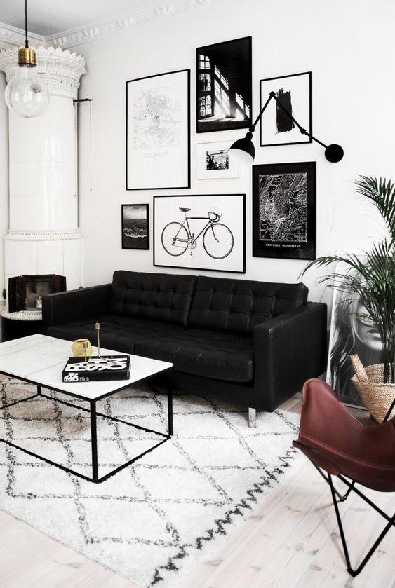 dark living room decor idea
