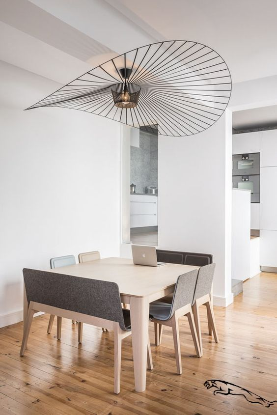 modern wood Square dining room table