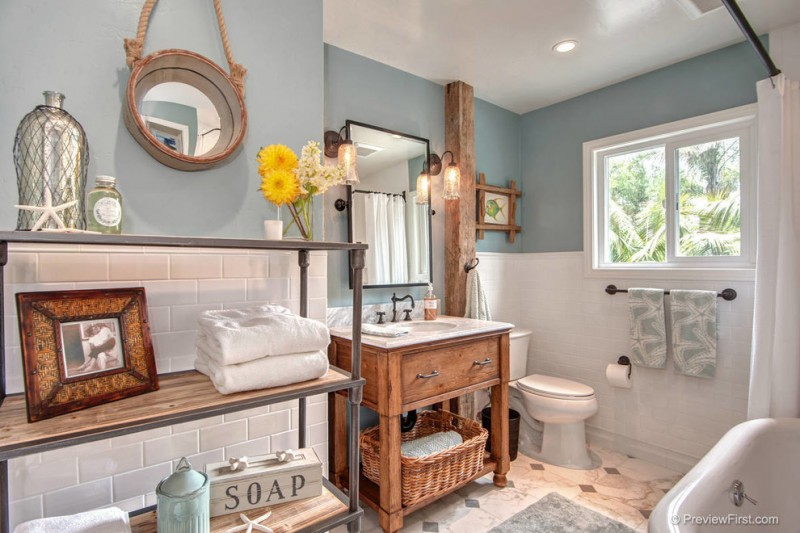 Wonderful Beach Themed Bathroom Decor Ideas