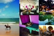 """UXUA CASA / BAHÍA, BRASIL Estas nueve casas pintadas de colores son un proyecto del director creativo de Diesel. Todas tienen cocina propia, algunas jardín privado y jacuzzi. Estilo """"chic rústico"""" a partir de unos 600 euros la noche. Eso sí, en los terrenos del hotel hay un santuario de tortugas"""