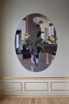 Detalle de la pintura de Erik A Frandsen que preside el despacho de la princesa Mary