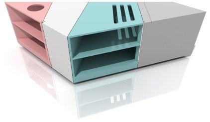 Mesa de centro de diseño versátil y modular