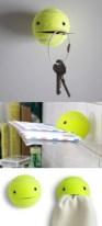 Con una pelota de tenis podemos hacer un simpático organizador