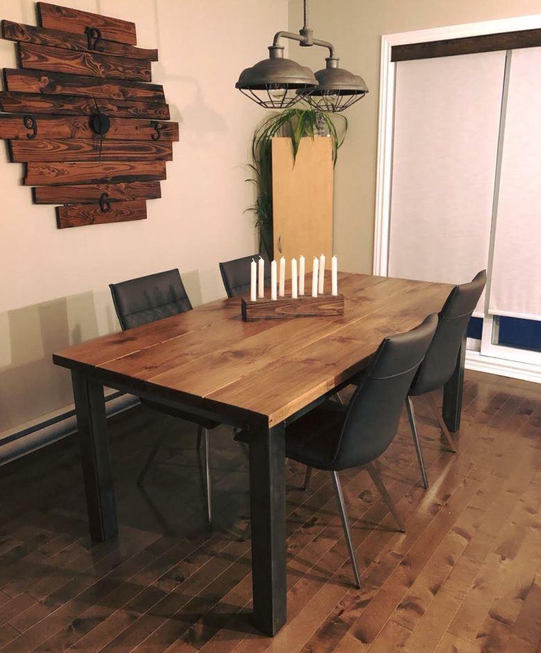 Table salle à manger Atelier Bleu de Plume
