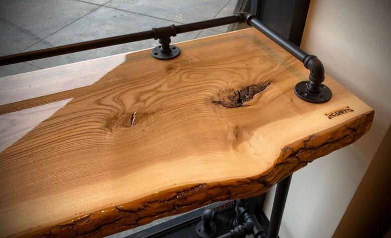 Table tuyau de fer galvanisé look industriel