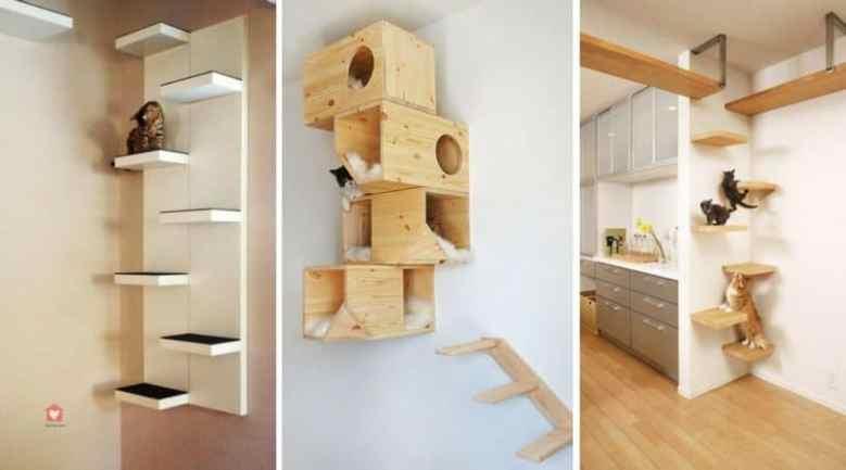 fabriquer arbre à chat étagère