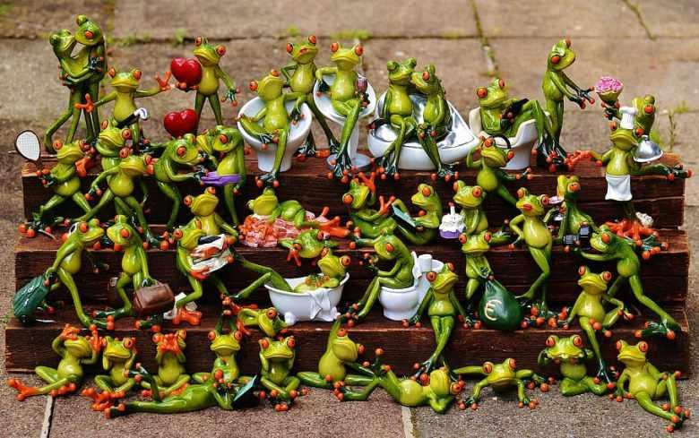 Frog en céramique
