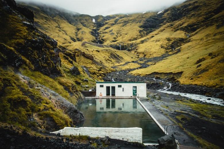 Seljavallalaug Pool, Islande.