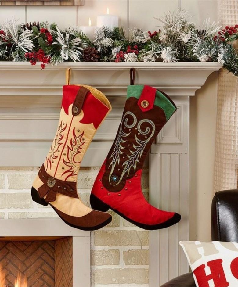 Bottes de Cowboy de Noël