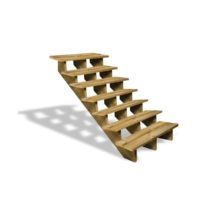 Escalier en bois pour votre jardin