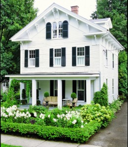 white clapboard house country living