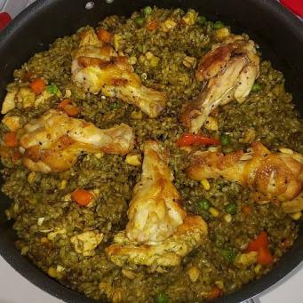 ingredientes para arroz con pollo