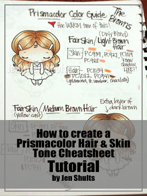Prismacolor Hair and Skin Tone Cheat Sheet Tutorial