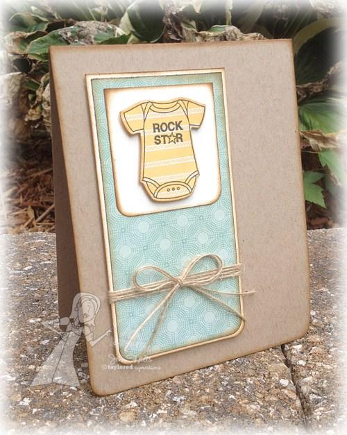 Rock Star - a baby card by Jen Shults