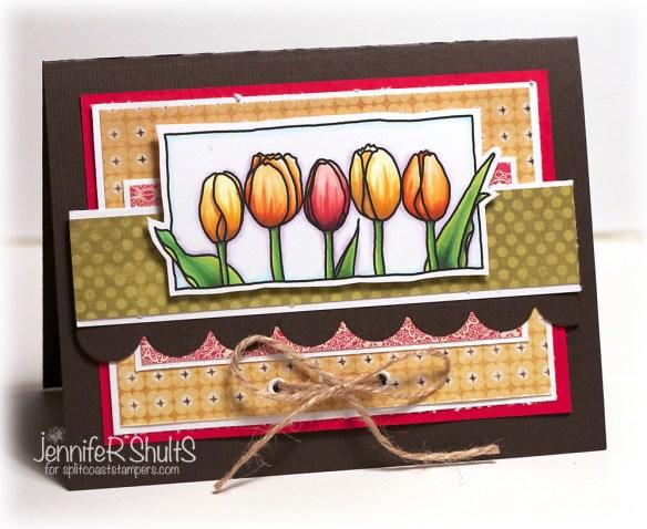 Tulips | handmade card by Jen Shults